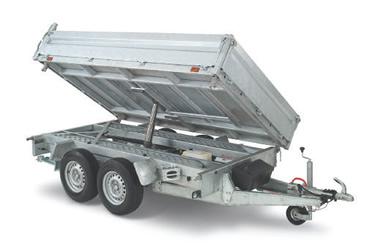 Fogelsta släpvagn trevägstipp